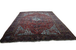 10x14 Overdyed Oriental Heriz Medallion Rug 2829 - west of hudson