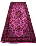 4x11 Overdyed Runner Vintage Area Rug Pink 2835 - west of hudson