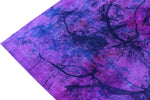 10×14 Overdyed Purple Paint Splash One of a Kind Rug 2857 - west of hudson