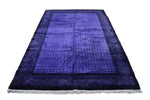6x9 Overdyed Purple Deco 100% Wool Rug 2863 - west of hudson