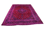 8x11 Vintage Oriental Hot Pink Rug Red 2866 - west of hudson