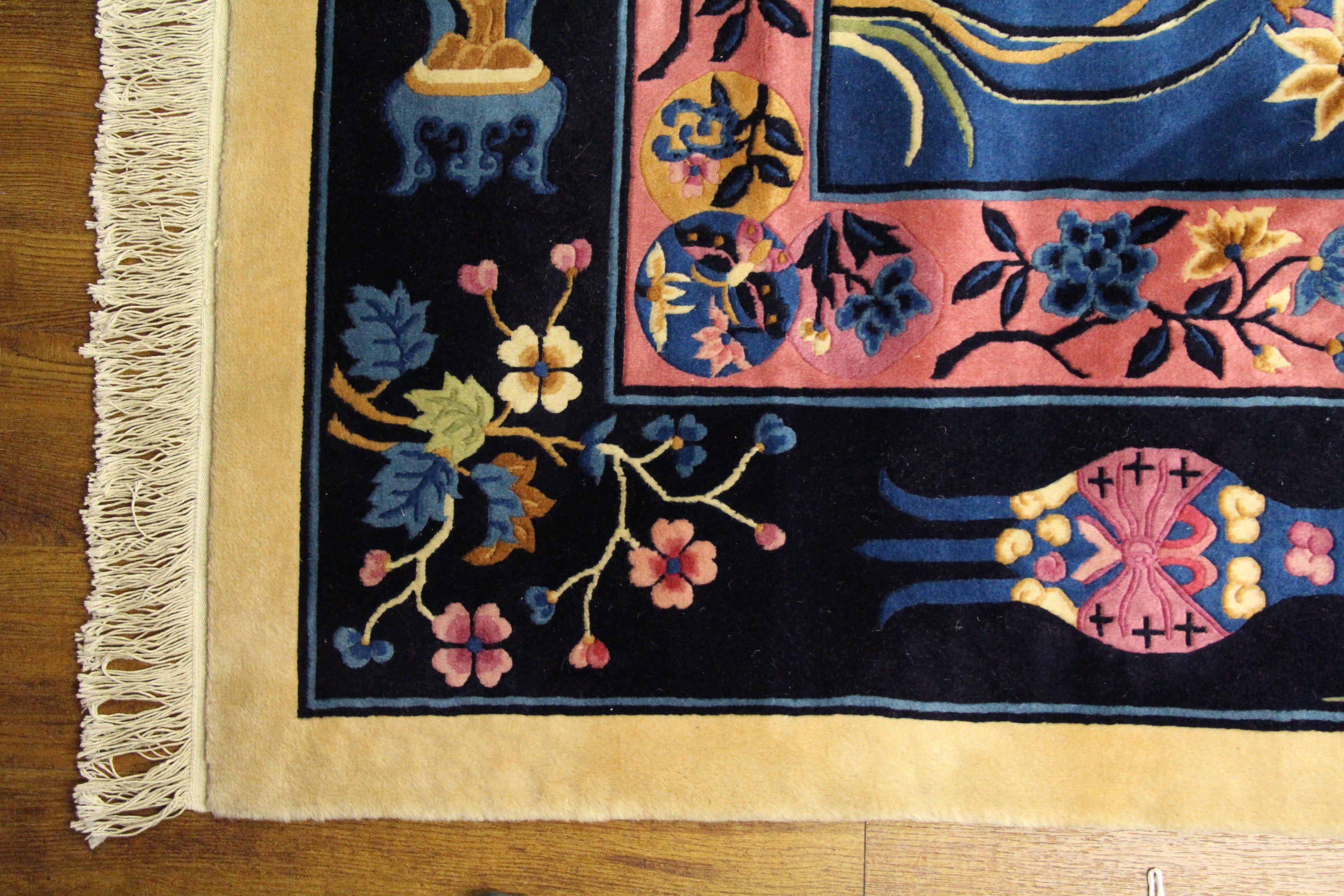 9x12 Beautiful Chinese Deco Soft Wool Rug 2875 - west of hudson