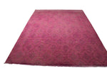 9x12 Pink Overdyed Rug Gray Faded Honey 2918 - westofhudson