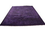 8×10 Overdyed Purple & Eggplant Rug Turkish Ushak 2926 - westofhudson