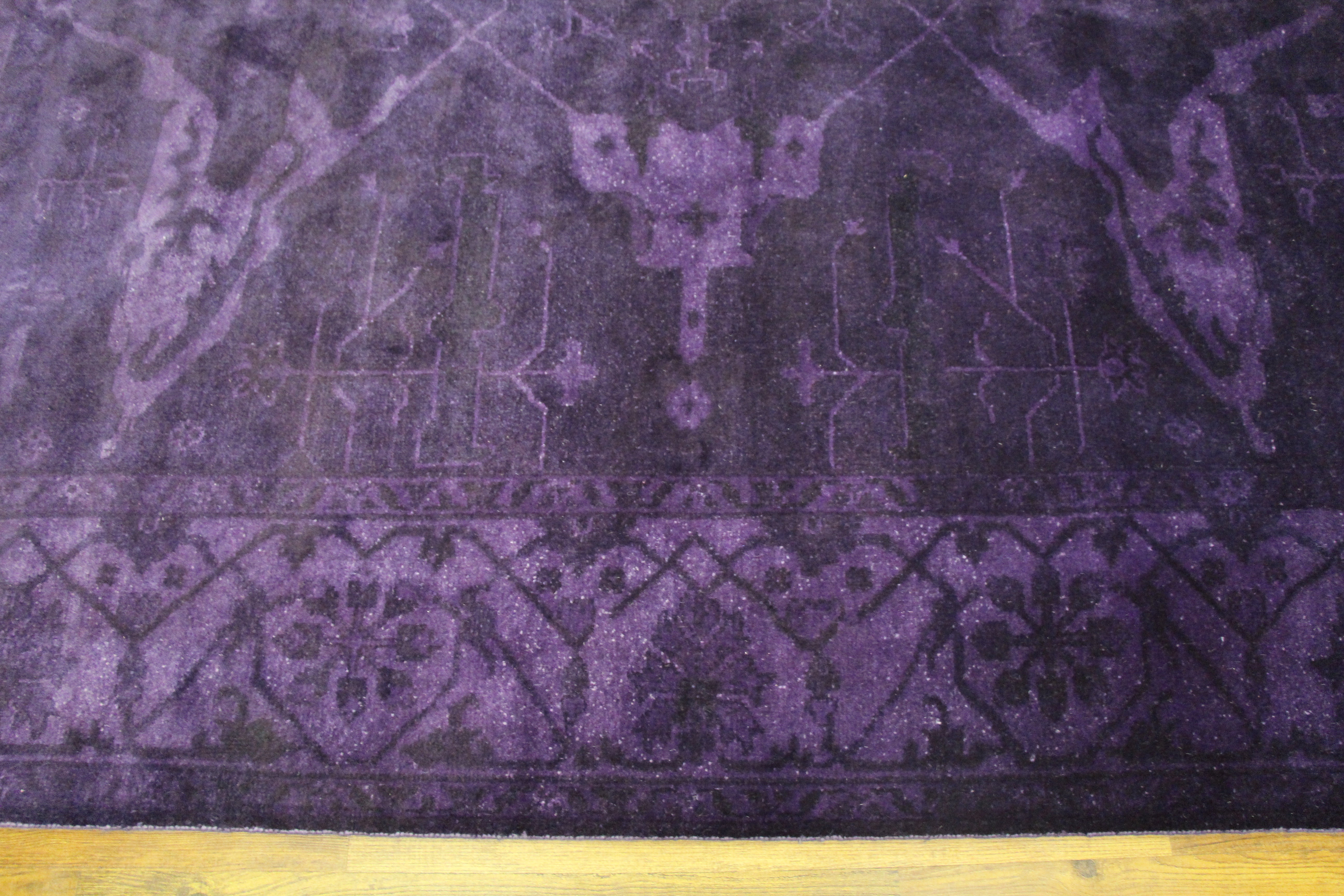 8×10 Overdyed Purple & Eggplant Rug Turkish Ushak 2926 - west of hudson