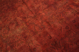 10x13 Distressed Authentic Vintage Oriental Area Rug Brick Rust Red 9x13 2929 - west of hudson