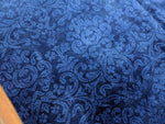 9x12 Ushak Indo Area Rug Midnight Indigo Blue 100% Wool Pile 2943