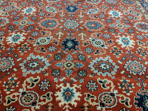 9x12 Ziegler Mahal Area Rug Brick Red 100% Wool 2953