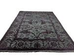 9x12 Ushak Charcoal Gray 100% Wool Pile Area Overdyed Rug 2960