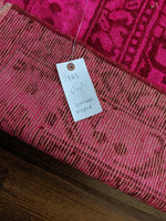 6x9 Overdyed Hot Pink Distressed Vintage Rug 100% Wool 2963