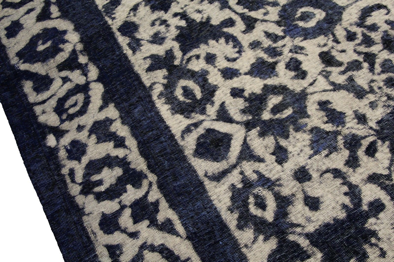 9x13 Distressed Vintage Rug Low Pile 100% Wool One of a kind 2903 - west of hudson