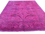 8x10 Overdyed Hot Pink Rug Turkish Ushak 100% Wool 2935 - west of hudson