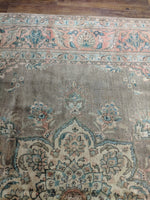 10x16 Semi Antique Authentic Oriental Area Rug 100% Wool Rug 2694 - west of hudson