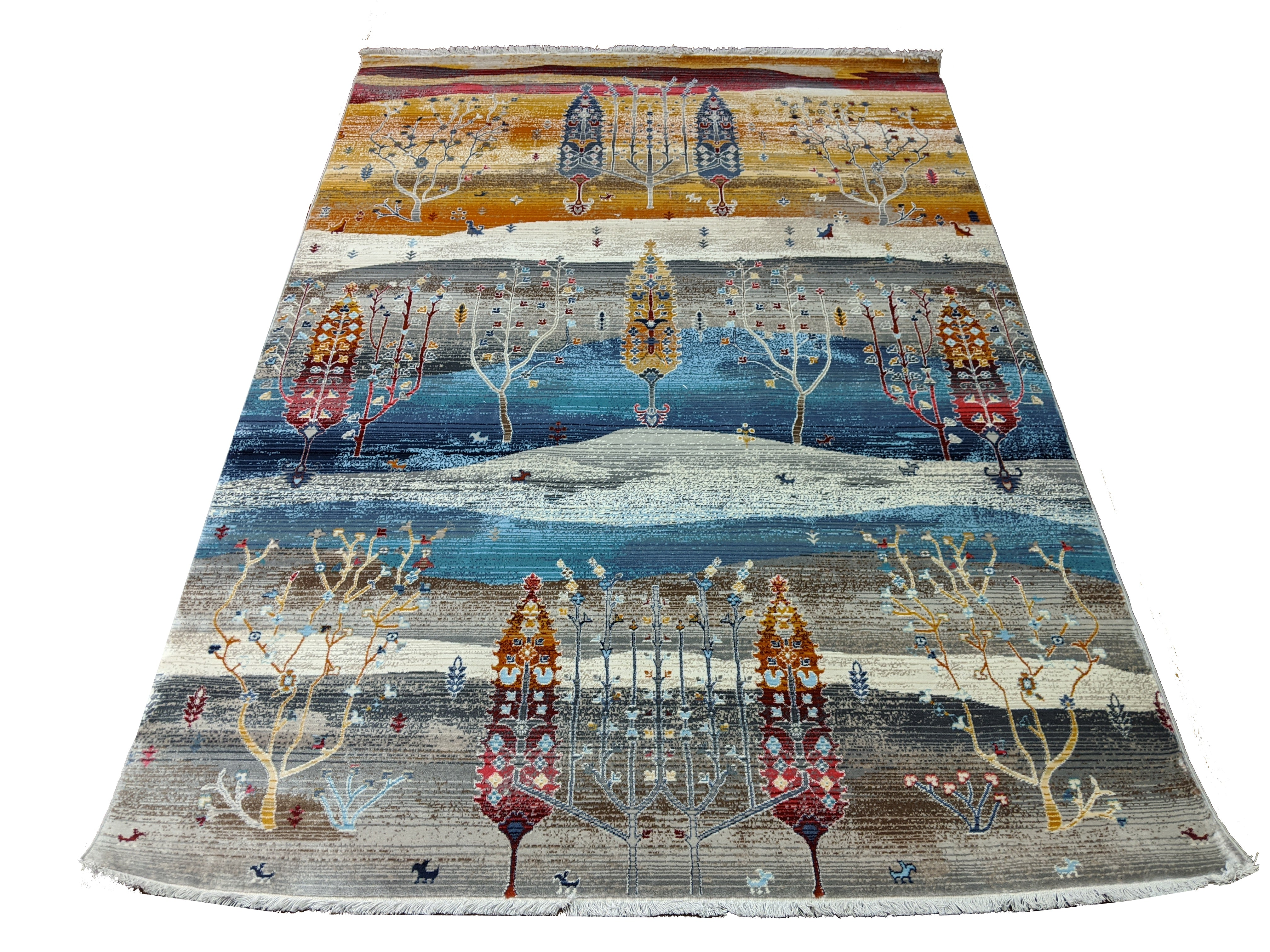 Colorful Oriental Design Rug - Tree of Life - Indoor