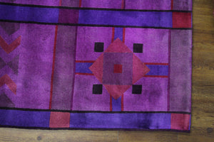 8x10 Overdyed Violet Modern Deco Rug 2801 - west of hudson