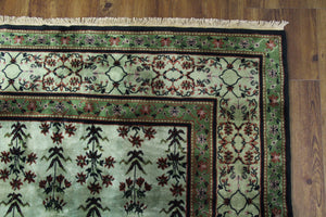 6x9 Overdyed Green Deco Rug 2803 - west of hudson