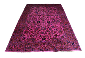 6x9 Overdyed Hot Pink Persian Semi Antique Rug 2805