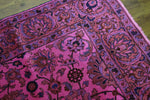 6x9 Overdyed Hot Pink Oriental Semi Antique Rug 2805 - west of hudson
