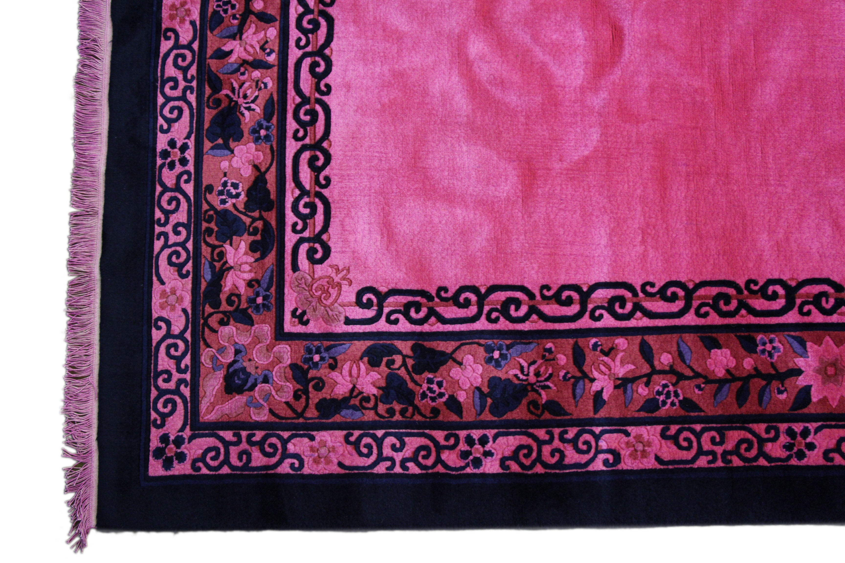 6x9 overdyed hot pink rug