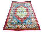 Colorful Oriental Medallion Rug Fuchsia - Montclair - Indoor / Outdoor