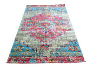Colorful Oriental Medallion Rug Fuchsia - Whimsical - Indoor / Outdoor