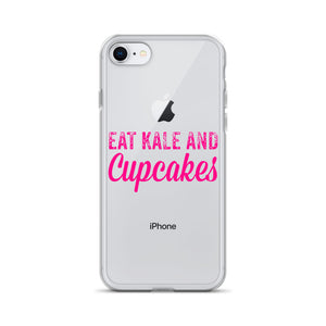 Eat Kale and Cupcakes iPhone Case
