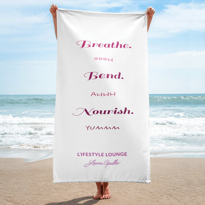 Breathe, Bend, Nourish Beach Towel