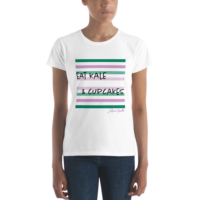 Eat Kale & Cupcakes - Women's short sleeve t-shirt