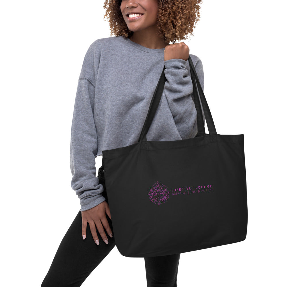 L'ifestyle Lounge Large organic tote bag