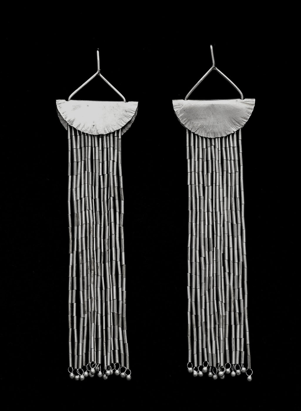 Quarter Moon earrings in Silver earrings Shrine Jewelry