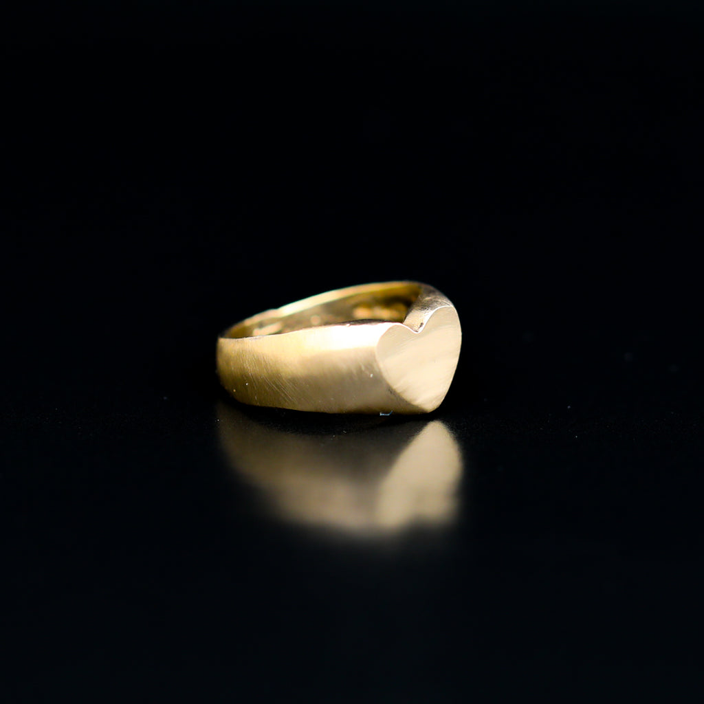 14kt gold Self Love Signet Ring