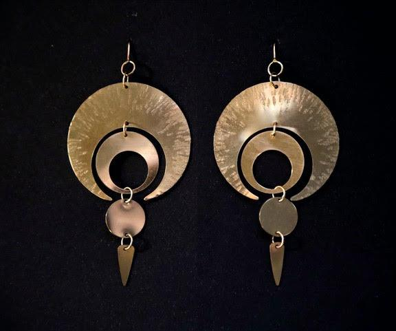 Super Moon earrings Shrine Jewelry