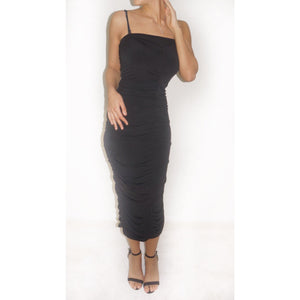 lang sort strapless wrap dress