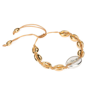 Gold and silver shell bracelet