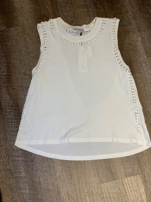 Track and Bliss White Tank