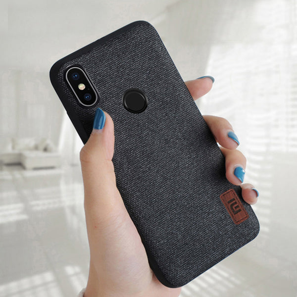 Bakeey Fabric Splice Soft Silicone Edge Shockproof Protective Case For Xiaomi Mi A2 / Xiaomi Mi 6X