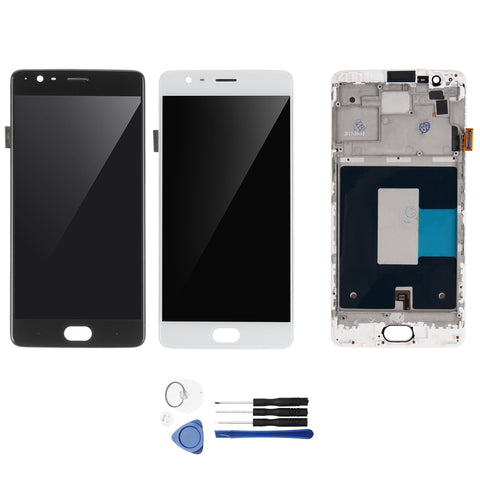 LCD Display Touch Screen Digitizer + Frame Replacement With Tools For OnePlus 3