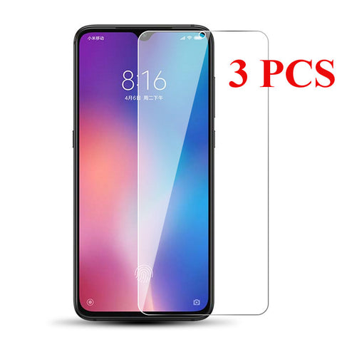 Bakee 3PCS Anti-explosion HD Clear Tempered Glass Screen Protector for Xiaomi Mi9 / Xiaomi Mi 9 Transparent Edition