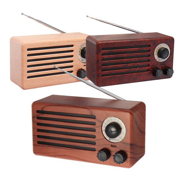10W Retro FM Radio bluetooth Speaker Wireless Stereo Bass Handsfree Outdoor With Mic Support USB FM Micro SD AUX