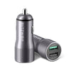 BlitzWolf® BW-SD2 30W QC3.0 2.4A Dual USB Ports Fast Car Charger For iPhone XS Xiaomi Mi8 Pocophone F1