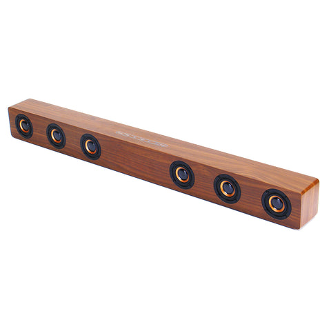 30W Wood Grain Wireless bluetooth Soundbar Six Drivers LED Display Clock Stereo Home Theater Soundbar Speaker