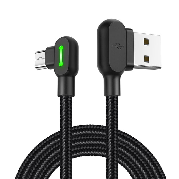 MCDODO 90 Degree 2A Breathing Light Micro USB Fast Charging Data Cable 0.5m/1.2m/1.8m for Honor 8X