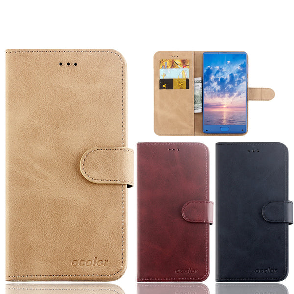 Bakeey Flip Magnetic Card Slot With Stand PU Leather Case Protective Case For Doogee Y8