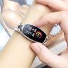 Bakeey H8 HR Blood Pressure Turn Light Dynamic UI Women Diamond Stainless Steel Smart Watch Bracelet