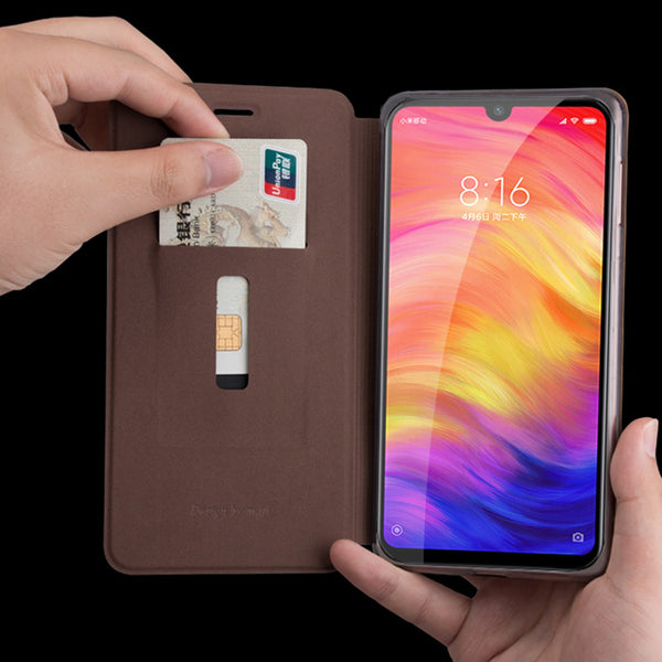 MOFI Shockproof PU Leather Flip Card Slot With Stand Full Body Protective Case For Xiaomi Redmi Note 7 / Redmi Note 7 PRO