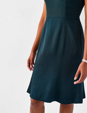 Plus-Size Green Cocktail Dress