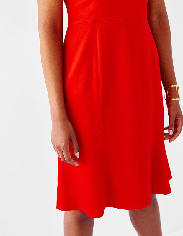 Plus-Size Red Fit-and-Flare Dress