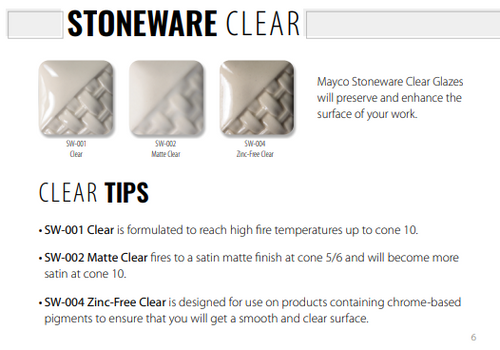 Mayco Stoneware Clear