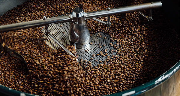 Roasting Coffee Beans in a Roasting Machine