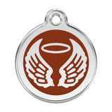 Red Dingo Stainless Steel & Enamel Angel Wings Dog ID Tag